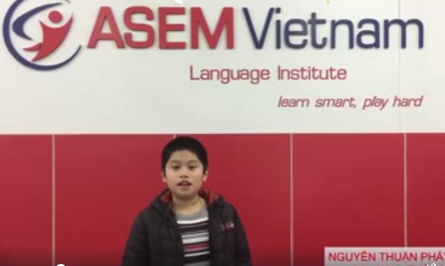 Học sinh lớp Năng Khiếu ASEM Vietnam - John